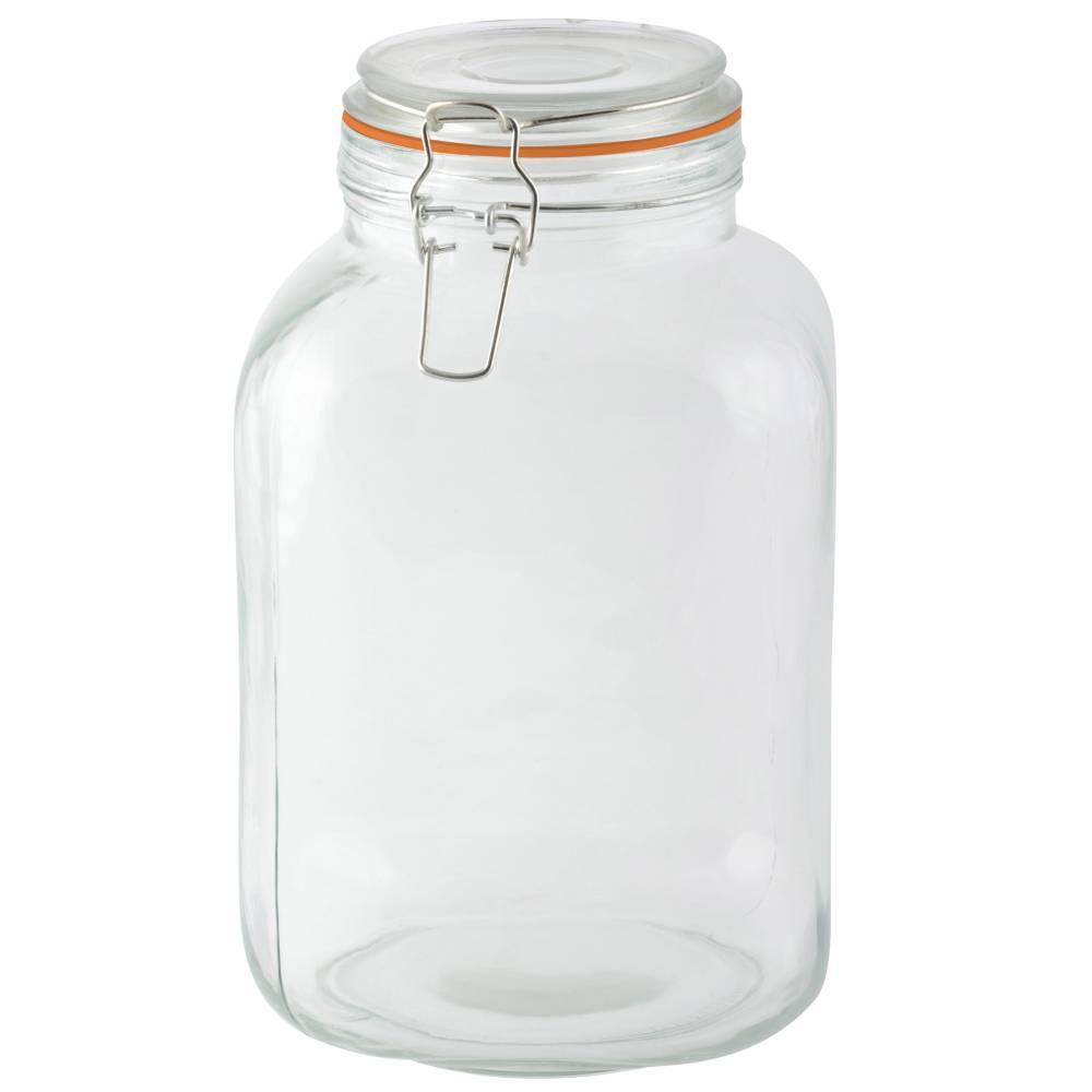 bocal en verre avec couvercle