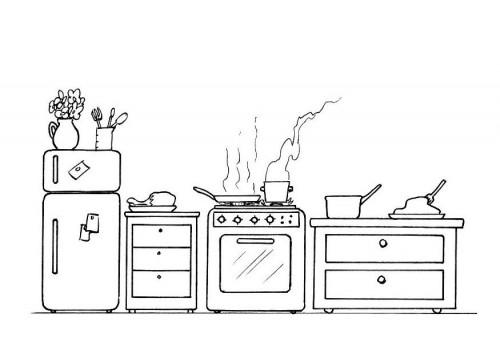 dessin de cuisine