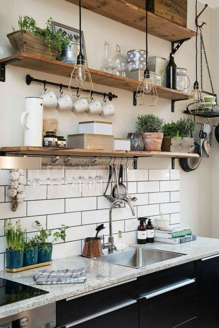 etagere cuisine murale