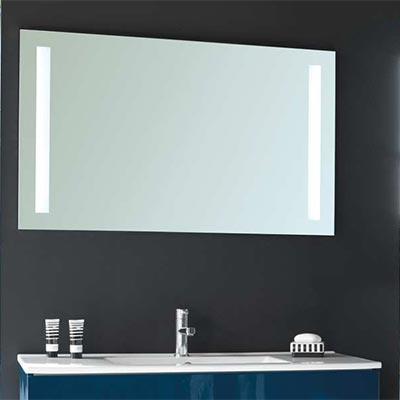 Miroirs LUVODI Miroir de Salle de Bains avec éclairage LED ...