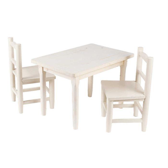table et chaise en bois enfant