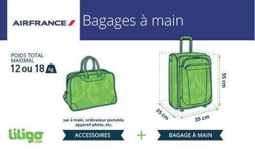 taille bagage cabine air france