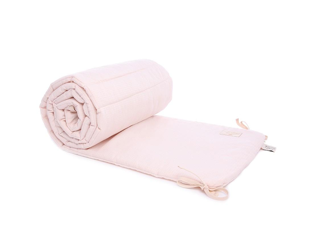 tour de lit rose pale