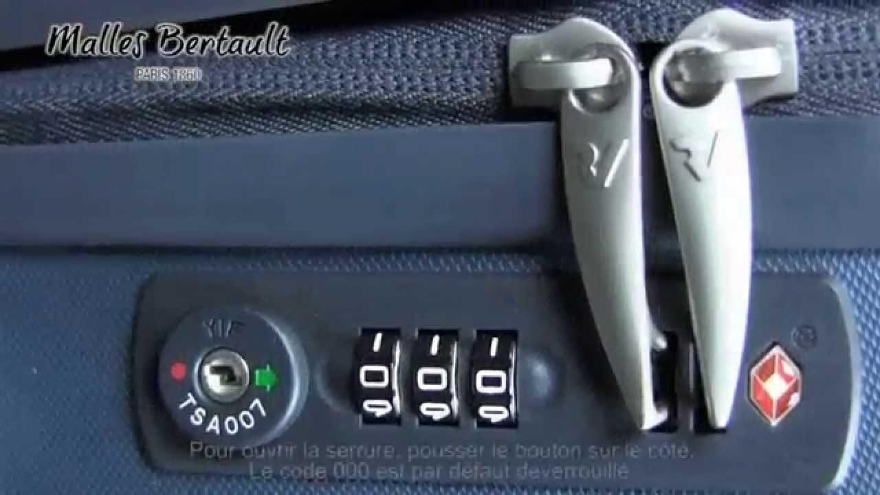 changer code valise roncato