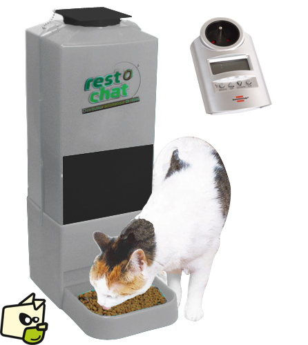 distributeur automatique croquettes chat programmable