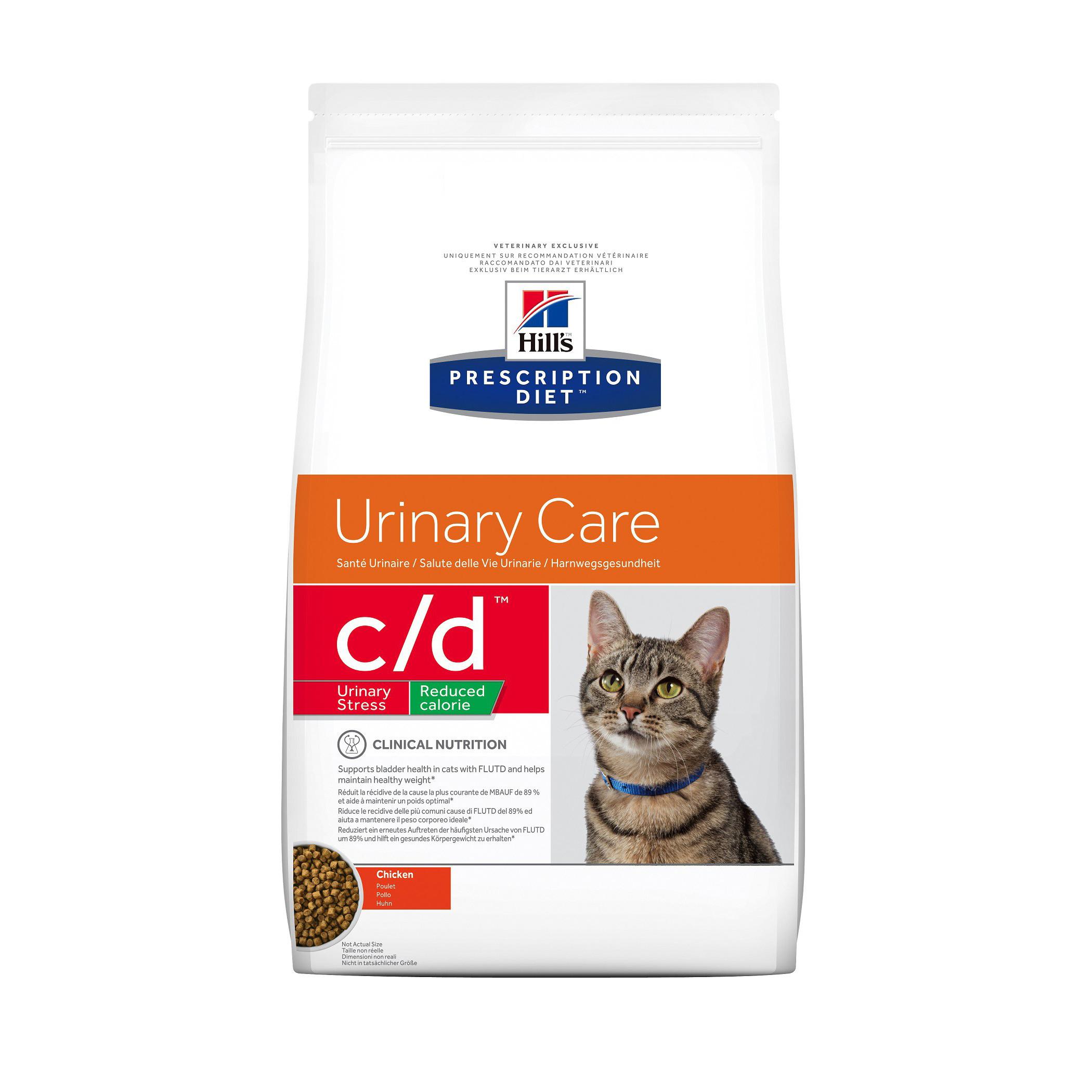 hill's prescription diet feline c d urinary stress reduced calorie