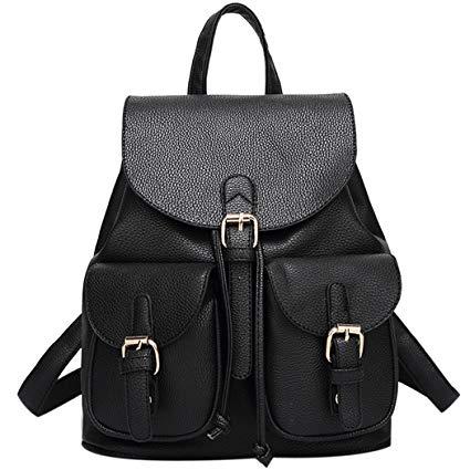sac à dos cuir noir