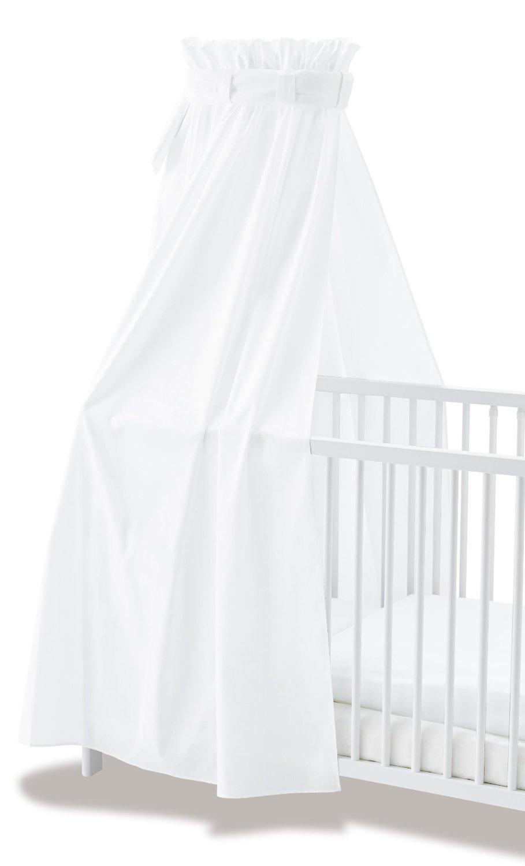 ciel de lit bébé blanc