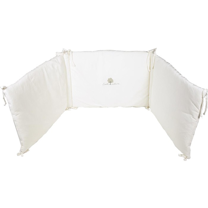 tour de lit bébé blanc