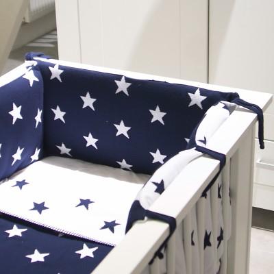 tour de lit bleu marine